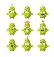 Cartoon Cactus Emoji Set vector image vector image