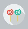 Christmas Flat Icon Lollipop vector image vector image