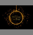 christmas shiny ball made with golden sparkles vector image