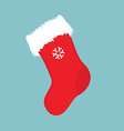 Christmas sock icon vector image vector image