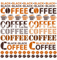 coffee background for coffee houses vector image