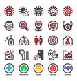 coronavirus icon set vector image