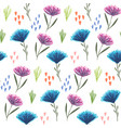 cute floral pattern with pink and blue flowers vector image vector image