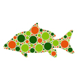 dotted fish vector image vector image
