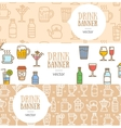 Drink Banner Flyer Horizontal Set vector image vector image