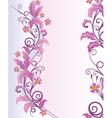 elegant floral vector image vector image