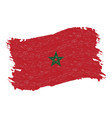 flag of morocco grunge abstract brush stroke vector image vector image