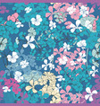 flower pattern with flowers in pink and blue color vector image vector image