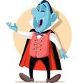 funny vampire cartoon character vector image