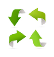 Green Abstract Arrows Set vector image vector image