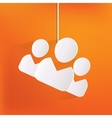 Group of people web icon vector image