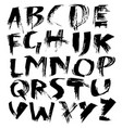 grunge distress font modern dry brush ink letters vector image vector image