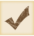 Grungy tick mark icon vector image vector image