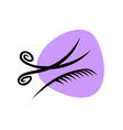 hairdresser salon logo scissors with comb elegant vector image vector image
