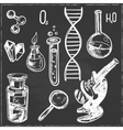 Hand drawn science beautiful vintage lab icons vector image vector image