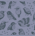 hand drawn tropical birds pattern vector image vector image