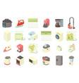 home appliances icon set cartoon style vector image vector image