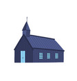 icelandic church flat old vector image