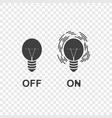 icons of the switched on and off light on vector image vector image