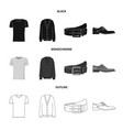 isolated object of man and clothing logo set of vector image