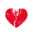 isoltted distress grunge heart with natural fur vector image vector image
