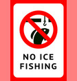 label no ice fishing for print vector image