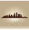 Louisville Kentucky skyline city silhouette vector image vector image