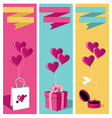Lovers day banner set vector image vector image