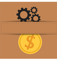 Material exchange to money vector image vector image