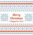 merry christmas knitted background vector image vector image