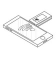 mobile usb internet technology isometric concept vector image