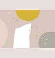 modern abstract artistic spot organic shape vector image vector image