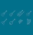 music instruments icons set 01 vector image vector image
