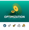 optimization icon in different style vector image