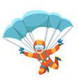 parachute skydiver icon vector image