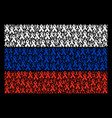 russia flag mosaic of mourning ribbon items vector image