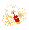 salute or firework decorative vector image vector image