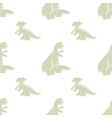 Seamless pattern Funny dinosaurs vector image vector image