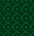 seamless pattern of green circles halfton vector image