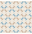 seamless sea pattern of anchors and waves vector image vector image