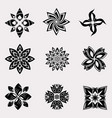 set of heraldic decoration flowers vector image vector image