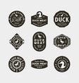 set premium fresh duck meat labels vector image vector image