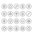 set round line icons of jewelry vector image