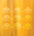 set thai art design elements vector image vector image