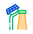 smart city solar battery icon outline vector image vector image