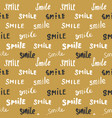 smile lettering seamless pattern hand drawn vector image