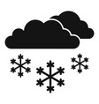 snow cloud icon simple style vector image