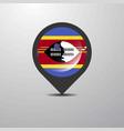 swaziland map pin vector image vector image