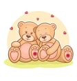 Teddy Bear love vector image