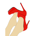 The beautiful legs of women vector image vector image